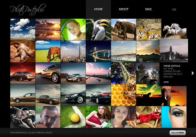 Innovatives Flash Fotogalerie Template