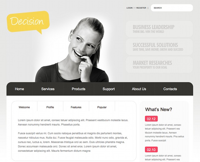 Minimalistisches Business WordPress Theme