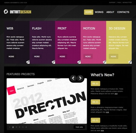 Dunkles WordPress Business Theme