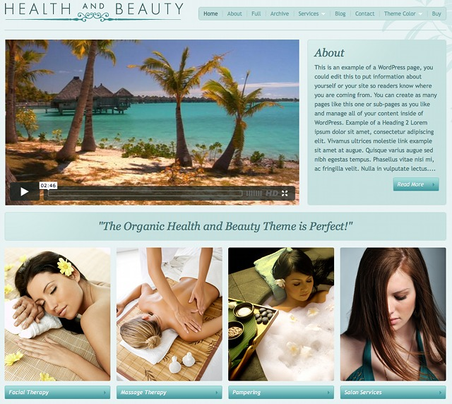 Organic Themes - Health & Beauty Theme