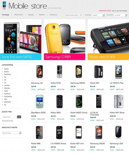 os commerce Template 28909