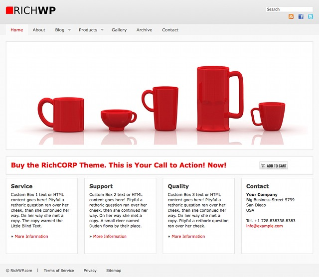 RichWP Business WordPress Theme RichCORP