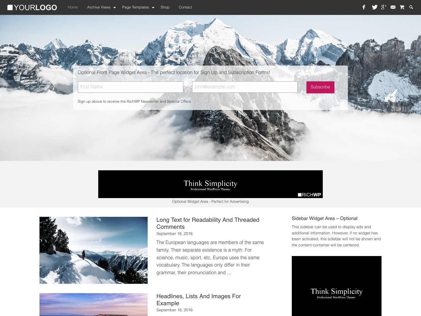 Rich Master - Personal Blog Theme