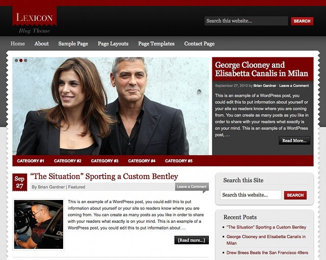 Studiopress Lexicon WordPress Magazine Theme