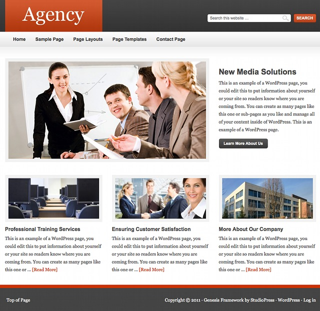 StudioPress Agency Theme