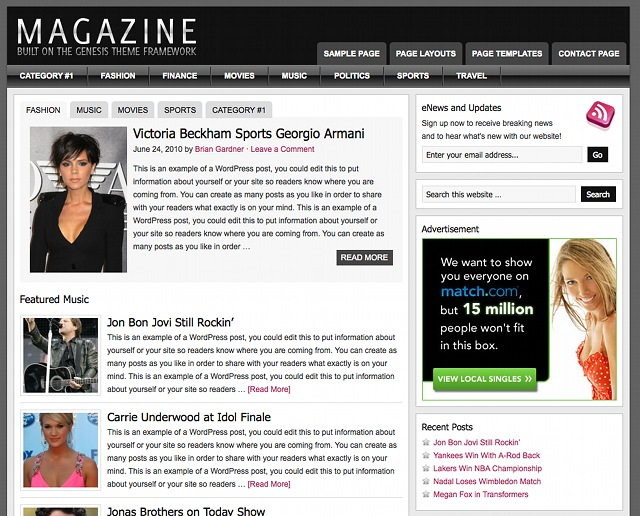 StudioPress Magazine Theme