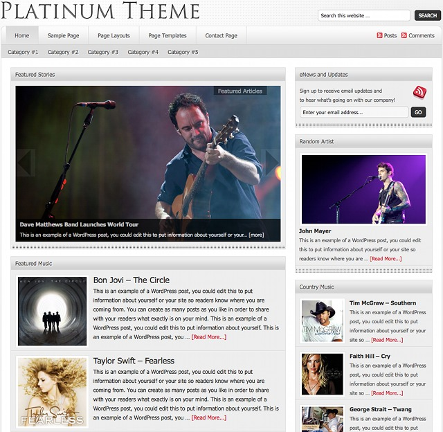 StudioPress Platinum Theme