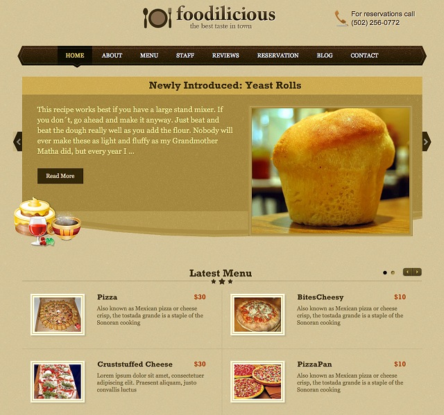 Templatic Foodilicious Theme