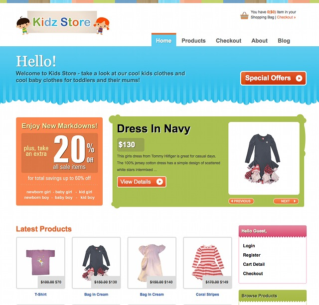eCommerce WordPress Theme Kidz Store
