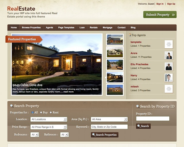 WordPress Theme für Immobilienmarkler