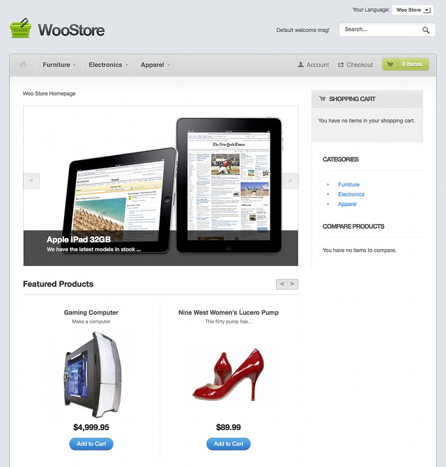 WooStore Magento Template